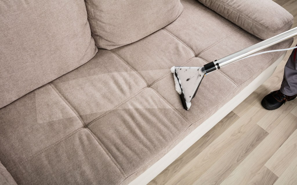 clean fabric upholstery