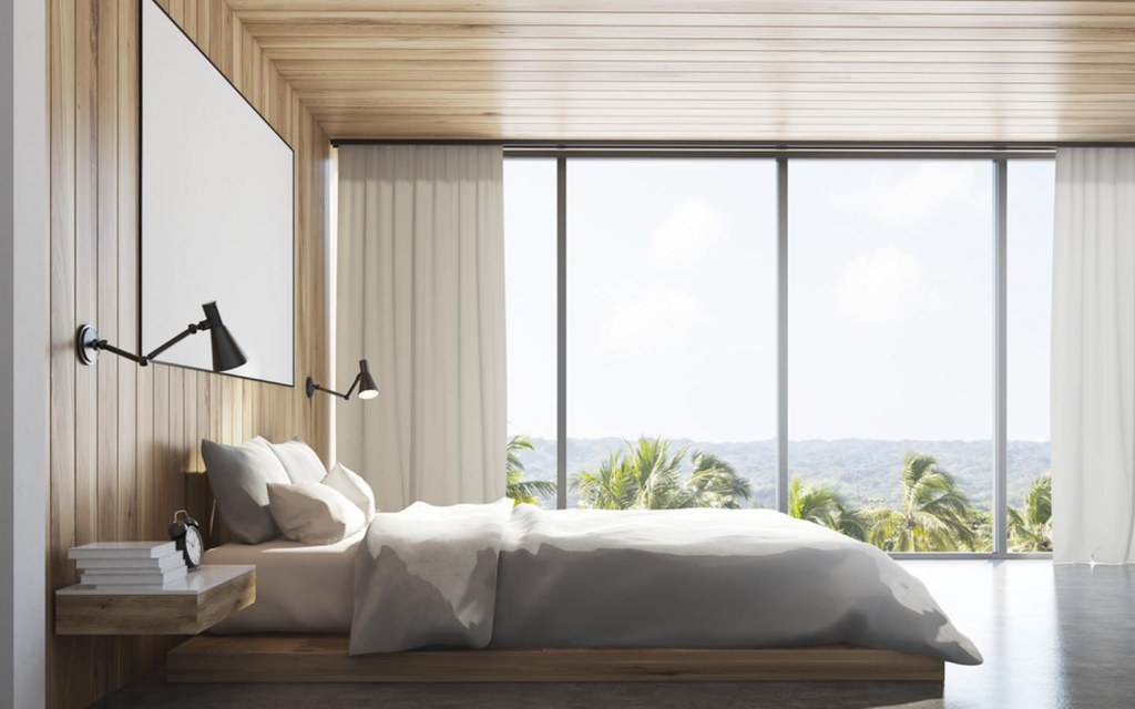 place a window for proper view in your bedroom