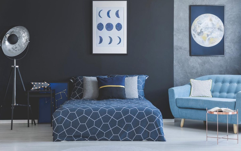 place a comfy sofa in the bedroom